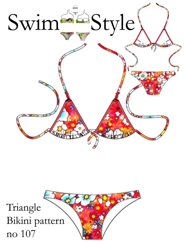Triangle Bikini Women s sewing pattern size 8 to 22 | Etsy