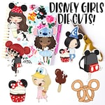 Chibi Disney Girls Die Cut Stickers / Laptop Stickers / Vinyl Decals / Disney Stickers / Planner Stickers / Kawaii Disney Die Cuts Decals