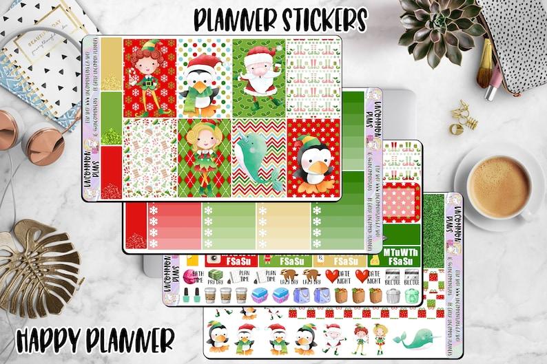 Kawaii Elf Movie Weekly Kit Stickers for Happy Planner image 0