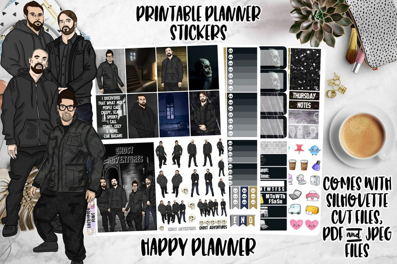 Ghost Adventures Printable Planner Stickers Weekly Kit for image 0