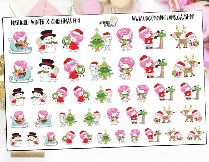 Mystique Winter Planner Stickers Christmas Planner Stickers image 0