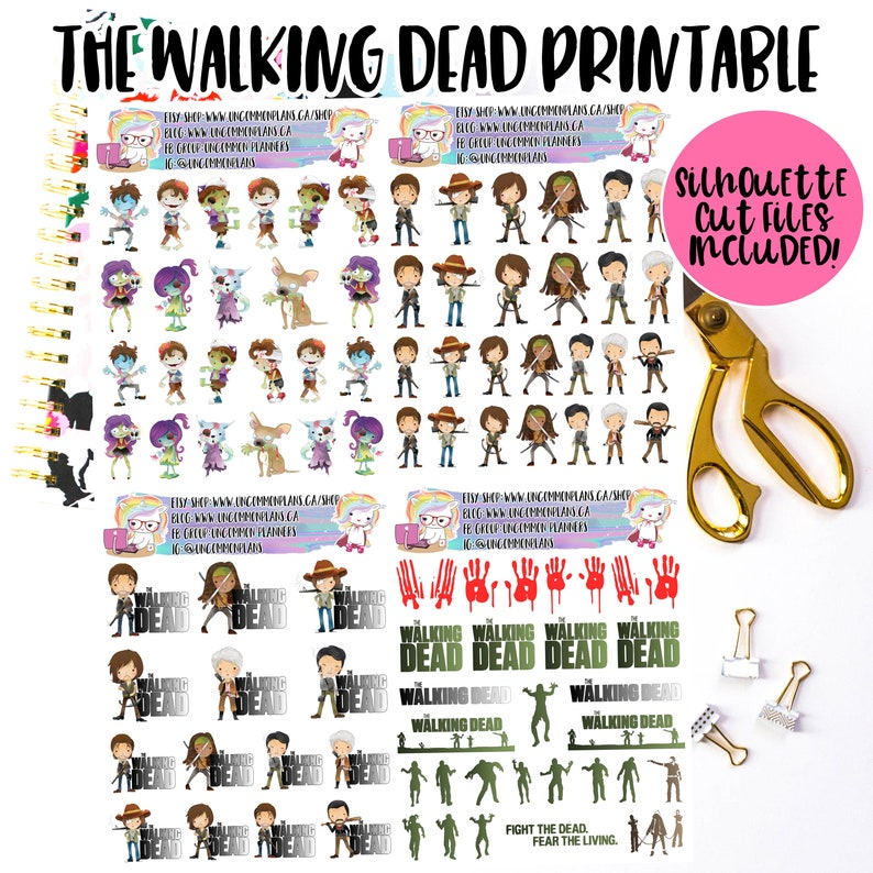 The Walking Dead Functional and Deco Printable Planner image 0