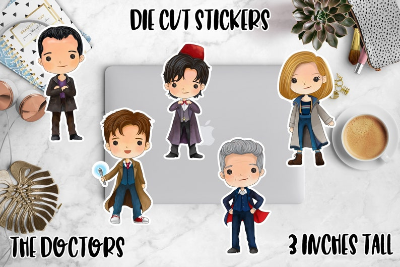 Kawaii Dr Who Die Cuts Doctor Who Die Cut Planner Stickers 13th Doctor