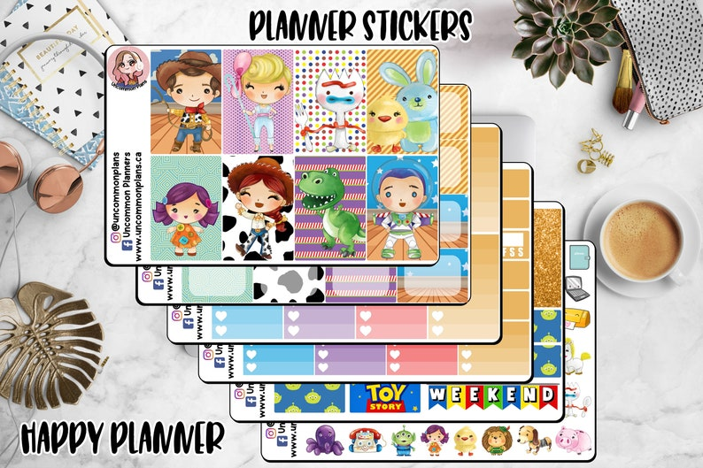 Kawaii Toy Story Planner Stickers Weekly Kit Happy Planner image 0