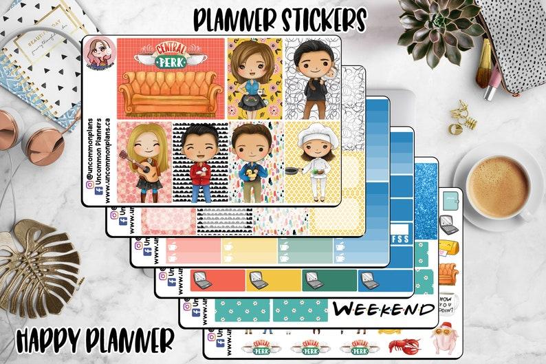Kawaii Friends Planner Stickers Weekly Kit Happy Planner image 0