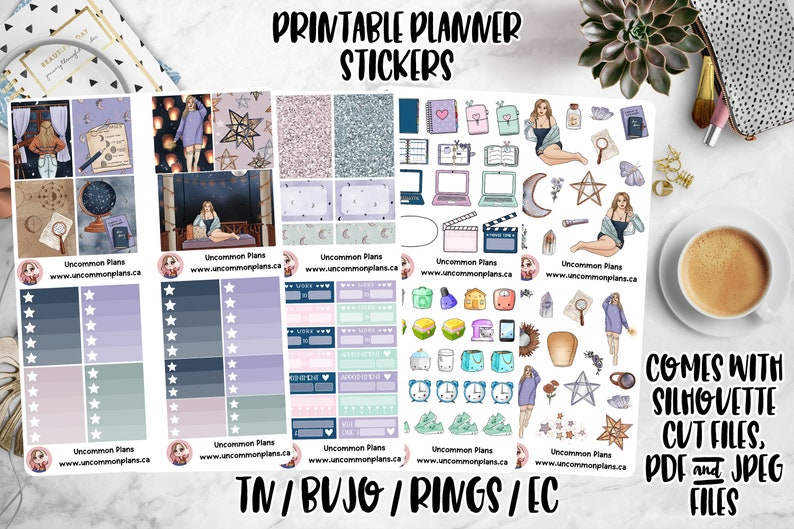 Stars Align Printable Planner Stickers for Any & All Planners image 0