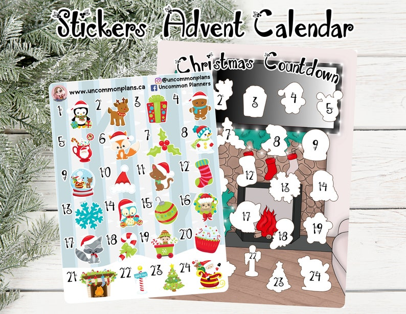 Stickers Advent Calendar / Christmas Coutndown w/ Stickers image 0