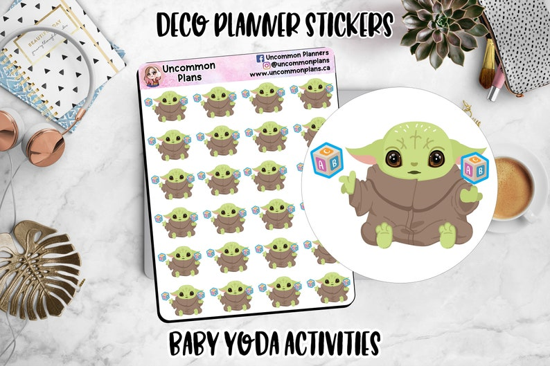 Kawaii Alien Space Baby Functional Deco Toys Play Stickers image 0