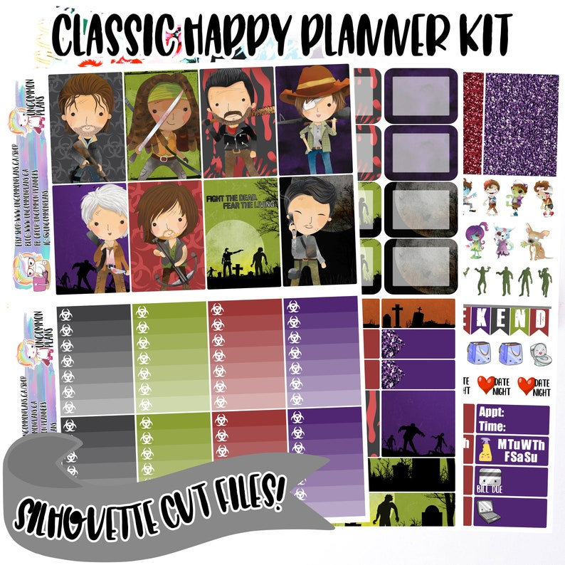 The Walking Dead Printable Planner Stickers Happy Planner image 0