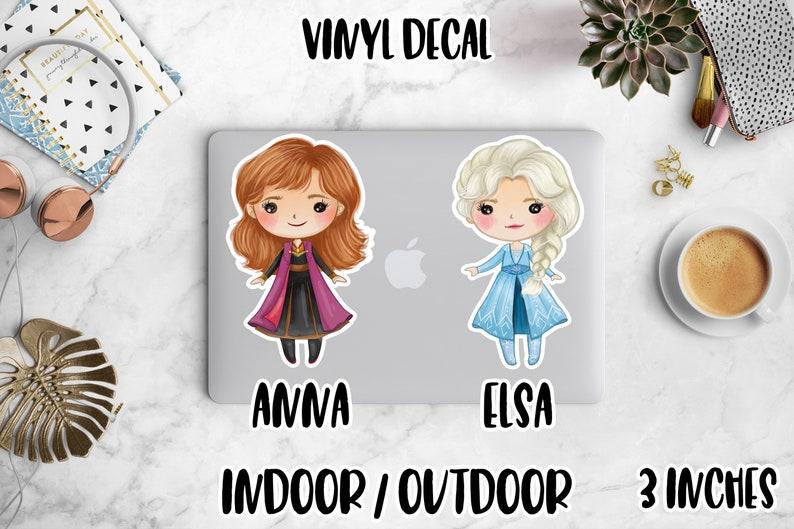 Vinyl Decal Disney Frozen 2 Movie Stickers Kawaii Anna & Elsa image 0