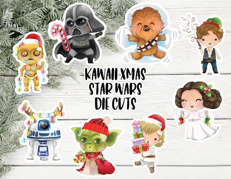 Kawaii Christmas Star Wars Die Cut Stickers Star Wars Die Cut image 0