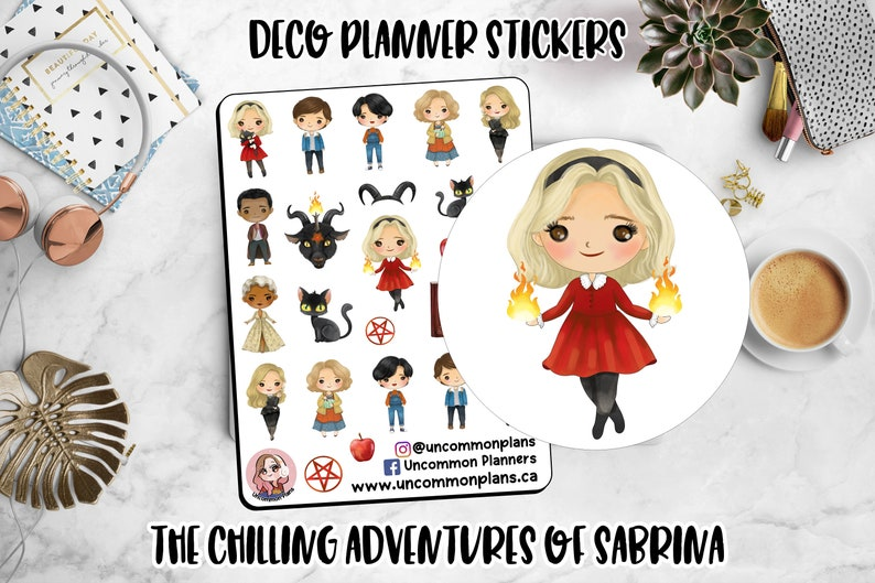Kawaii The Chilling Adventures of Sabrina Deco Planner image 0