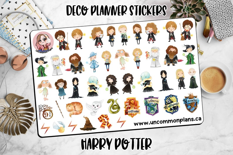 Kawaii Harry Potter Stickers Fun Stickers for Planners Chibi image 0