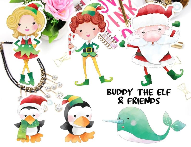 Buddy the Elf Die Cut Stickers Elf Planner Stickers Buddy image 0