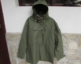 bc27302fcc3 Old Military Green Canvas Anorak