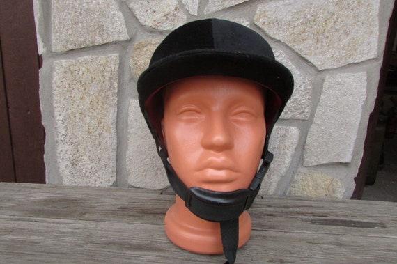 Helmet riding black  velvet number 59 Hat for riding Old hat riding Dover Saddlery Riding cap Horseback riding helmet