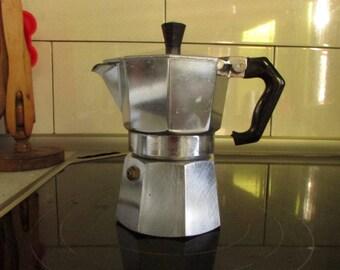 Vintage Italian mini coffee maker - Tourist coffee maker - Camping espresso coffee maker - Metal tourist coffee maker