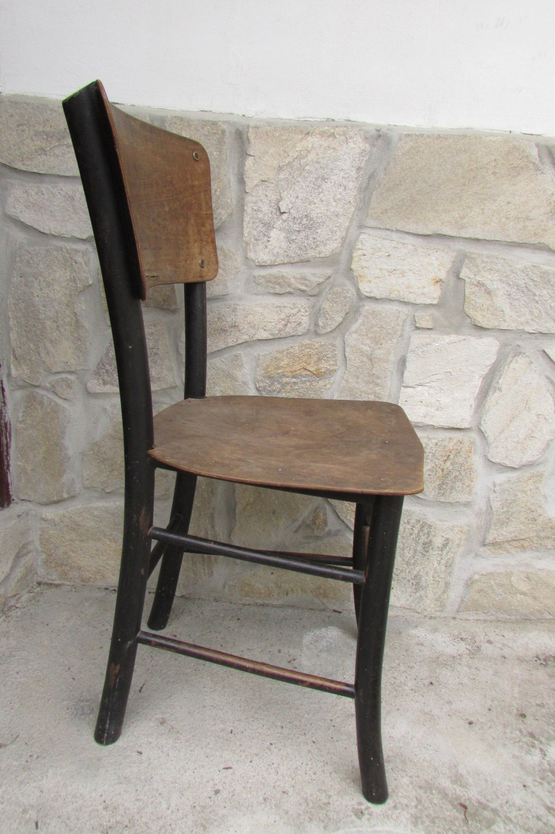 Old wooden chair - Vintage wooden chair - Rustic chair - Wooden chair - Old decor - Old chair - Old handmade chair