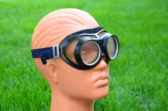 Vintage Welding Goggles, Old Protective Glasses, M