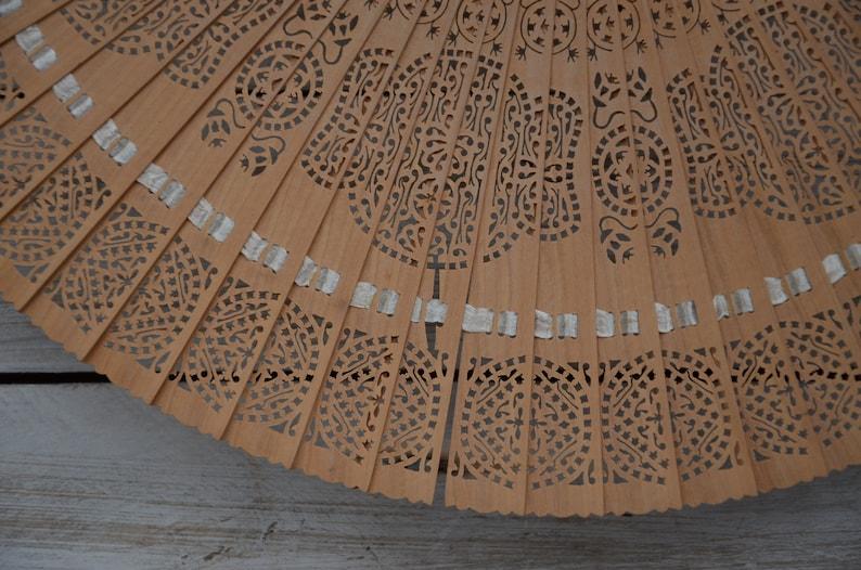 Retro Fan Wooden Fan Vintage Wooden Hand Fan Hand Pan