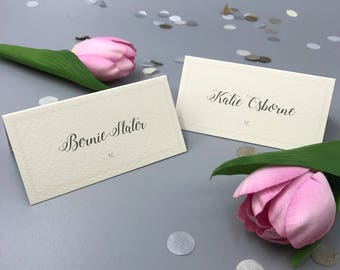 Cream and Pink Place Names - Folded - 9cm x 4.5cm