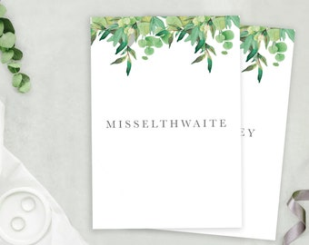 Foliage Wedding Table Names A5