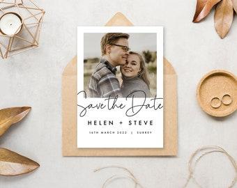 Polaroid Wedding Save the Date A6 Magnet / Postcard