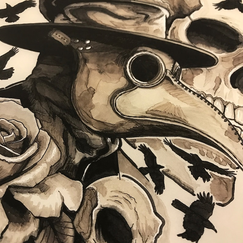 Plague Doctor Fine Art Print By Tom Hacic image 0