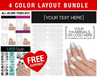 Jamberry template etsy sale display layout bundle 4 colors includes hand mockup and sheet with shine nail wrap nas jamberry compatible stopboris Images