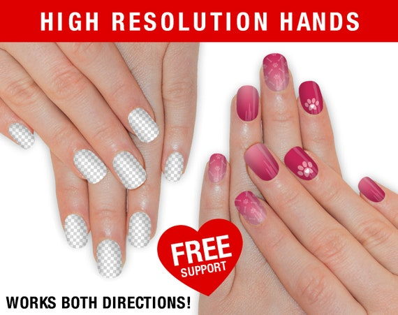 sale high resolution real hand mockup nail wrap nas hand etsy