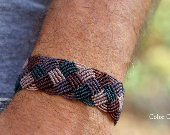 Bracelet for man, macrame bracelet, bracelet knots, gift for him, gift father, bracelet colors, friendship bracelet, husband gift