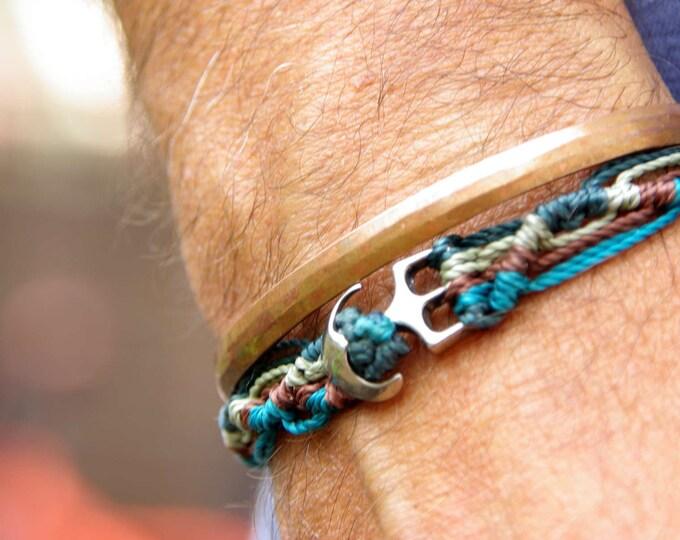anchor macrame bracelet for him, cord bracelet, men bracelet, marine inspiration, macrame bracelet, nautical bracelet, men bracelet
