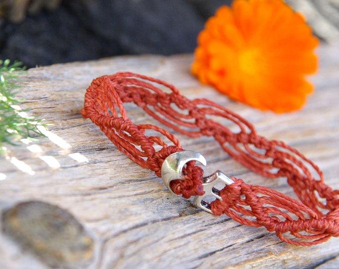 anchor macrame bracelet for him, cord bracelet, men bracelet, marine inspiration, macrame bracelet, nautical bracelet, knots bracelet