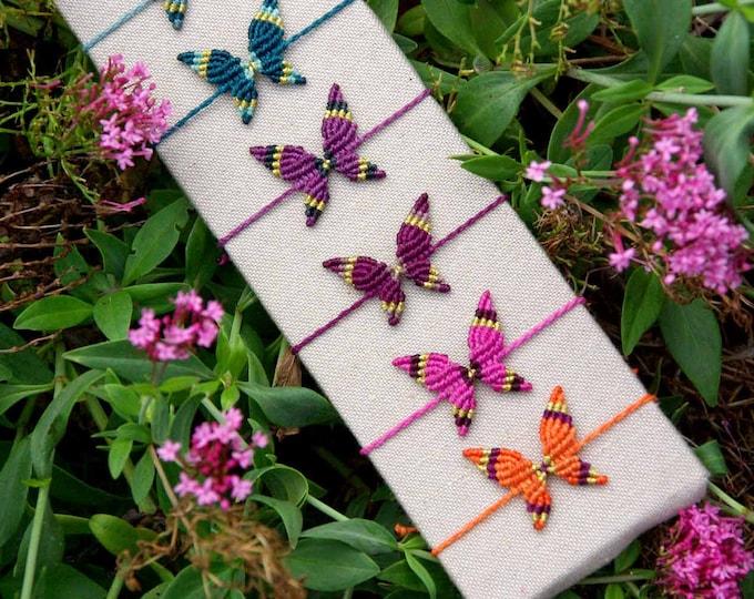 Macrame BUTTERFLY, for bracelet, 9 colours, boho macrame, bohemian butterfly, Friendship bracelet, water resistent,