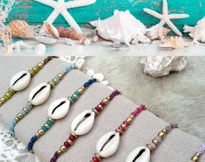 Macramé  Sea Bracelet, with brass, friendship bracelet, mermaid bracelet, boho bracelet, gipsy, waterproof, nickel free, free shipping