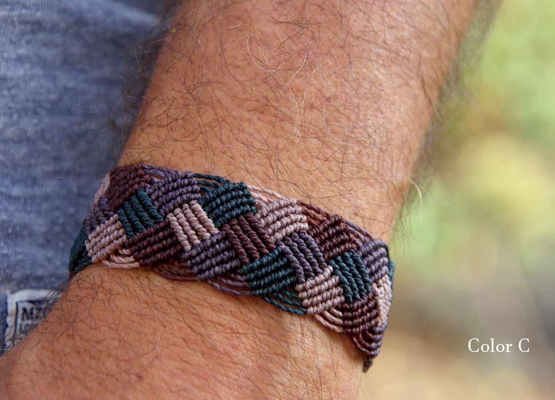 Bracelet For Man Macrame Bracelet Bracelet Knots Gift For Him Gift Father Bracelet Colors Friendship Bracelet Husband Gift