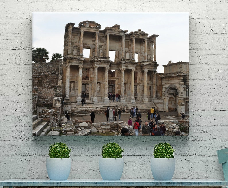 Turkish Art  Architectural Wall Decor  Library Art  Library image 0