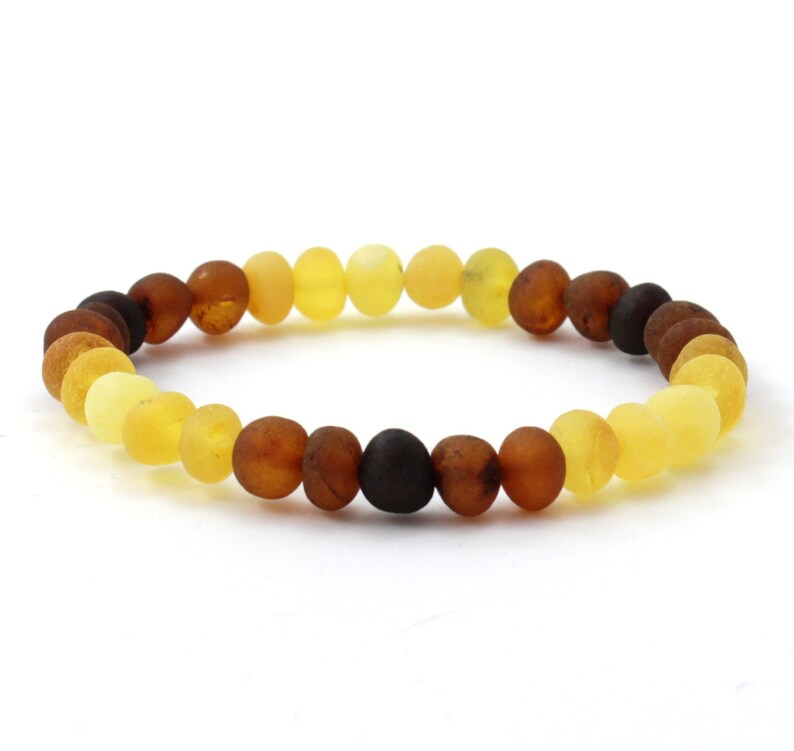 Raw Modern Rainbow Amber Jewelry Set for Adults Necklace and Bracelet Set Baltic Amber Baroque Beads Unpolished For Men and Women