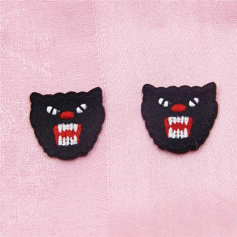 099c106d7e31d 2 pcs ,Panther Embroidered Applique Patch ,Panther Applique for Garment  Accessories,Patch for Handbag