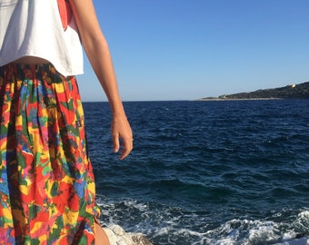 31 Beach Street | Submerge Emerge | Après-surf Beachwear Long Skirt | High-Waisted Maxi Skirt