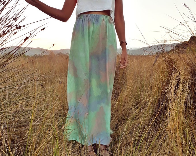 31 Beach Street | Pastel Swell | Après-surf Beachwear Long Skirt | High-Waisted Maxi Skirt
