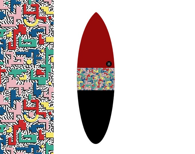 NEW IN | Oh  Arcade Bauhaus - Red Pixel Bash | Surfboard Sock