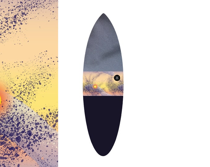 NEW IN | Oh  Sunset Splatter - Cloudy | Surfboard Sock