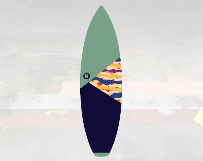 Volcan-Oh | Surfboard Sock | Triangle Pistachio