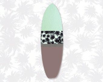 Chocomint | Surfboard Sock | Tropics