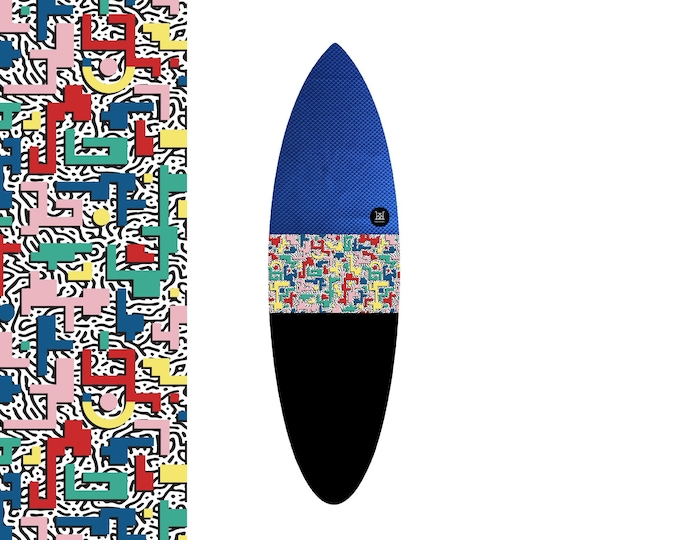 NEW IN | Oh  Arcade Bauhaus - Blue Pixel Bash | Surfboard Sock