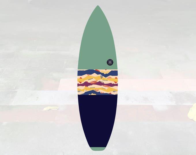 Volcan-Oh | Surfboard Sock | Horizon Pistachio