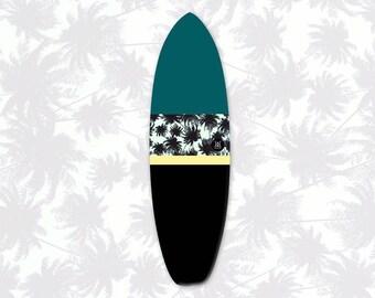 Pohon Palem Nā Pali | Surfboard Sock | Tropics