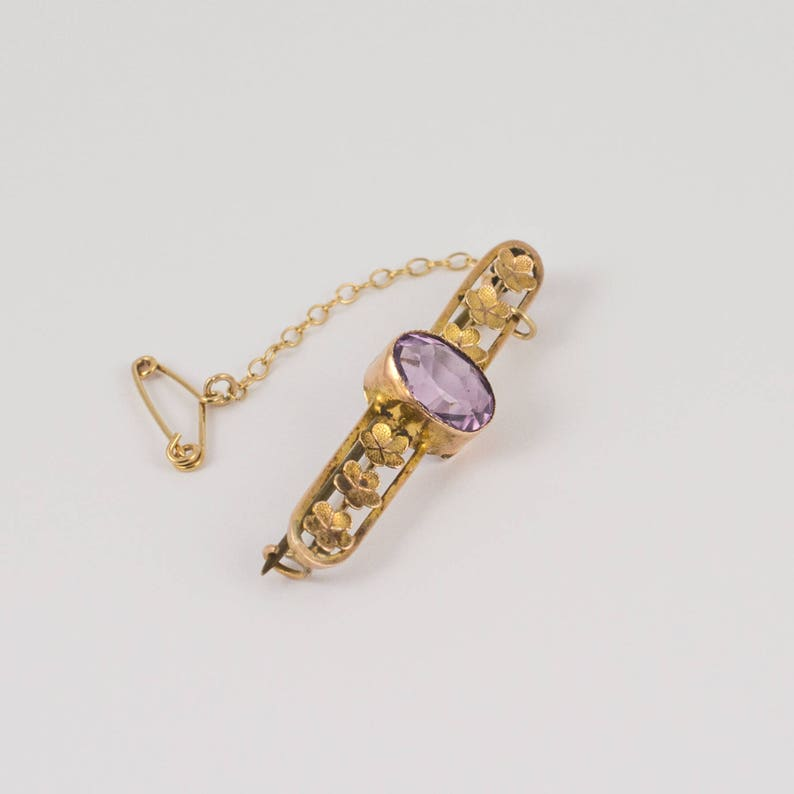 f2e75922feb5d Antique Amethyst Flower Brooch 9ct Rose Gold, Edwardian Brooches, Antique  Jewellery, Vintage Amethyst Jewelry, Vintage Gold Brooch Pin