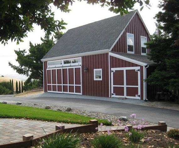 11 Carriage Barn Loft Garage Designs Eleven Optional Layouts Etsy